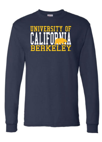 University of California Berkeley with Walking Bear Block Long Sleeve Tee
