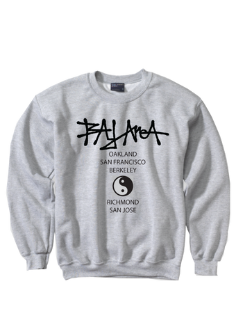 Bay Area Ying Yang Crew Neck Sweatshirt