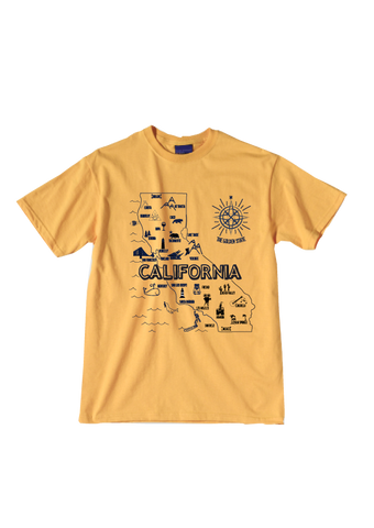 California Places Map Tee