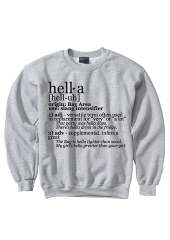 Hella Defined Crew Neck Sweatshirt