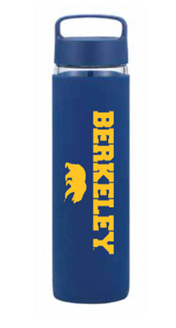 Berkeley with Walking Bear Glass Water Bottle