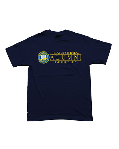 Alumni Seal T-Shirt.   All items are trademarked by University of California Berkeley with their official logos. Cal Script, Campanigle, California Walking Bear, Oski mascot bear, California Golden Bears, UC Berkeley school seal, California Football and such.