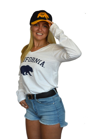 California Bear Long Sleeve V-neck