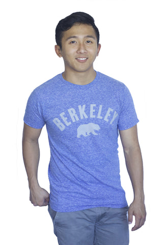 M V Sport Vintage Berkeley Arch Tee with Walking Bear