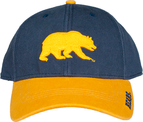 California Walking Bear Curved Brim Buckle Back Hat