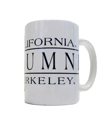 Alumni Mug.   All items are trademarked by University of California Berkeley with their official logos. Cal Script, Campanigle, California Walking Bear, Oski mascot bear, California Golden Bears, UC Berkeley school seal, California Football and such.