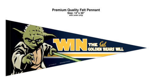 Star wars Yoda Cal Win Pennant
