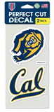 2 pack Cal Script and Athletic Bear decal set