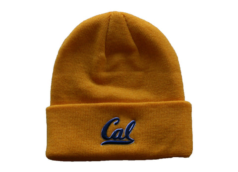 Gold two color cal script beanie