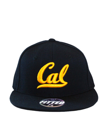 Navy Cal Script High Profile Fitted Cap
