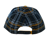 Cal Script Plaid Snap Back