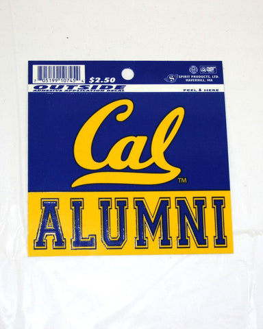 Alumni Decal.   All items are trademarked by University of California Berkeley with their official logos. Cal Script, Campanigle, California Walking Bear, Oski mascot bear, California Golden Bears, UC Berkeley school seal, California Football and such.