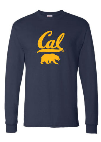 Cal Bear Stacked Long Sleeve Tee