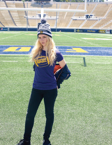 Golden bear football women's tee