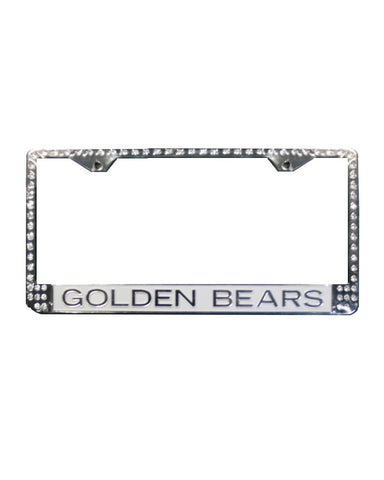 Bling Golden Bears License Plate