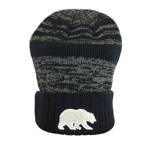 Cal/Bear Navy/Grey Jacquard Knit Beanie