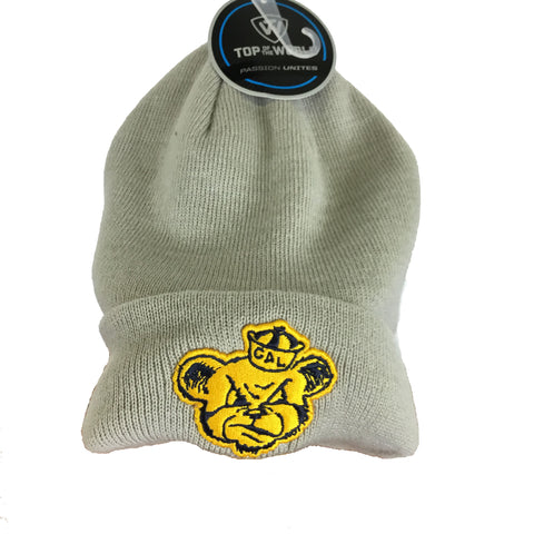 Grey Vintage Oski Patch Beanie