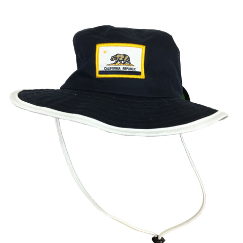 Deep Navy California Flag Booney Hat