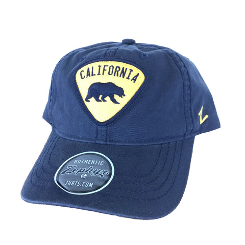Vintage Navy California Bear Triangle Patch Hat
