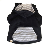 Black Striped Dog Hoodie