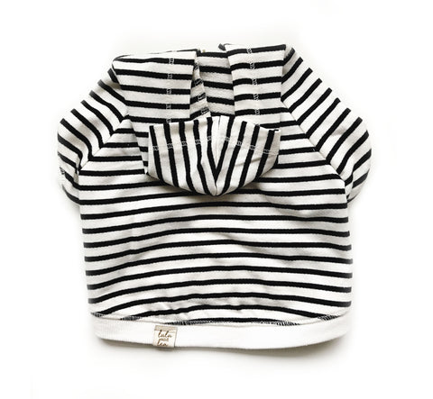 Striped Zip Up Dog Hoodie