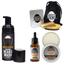 Load image into Gallery viewer, Rugged Beard Care Brush Bundle (SAVE 25%)