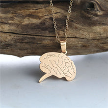 Load image into Gallery viewer, Stainless Steel Brain Necklace - Gifted Guppy