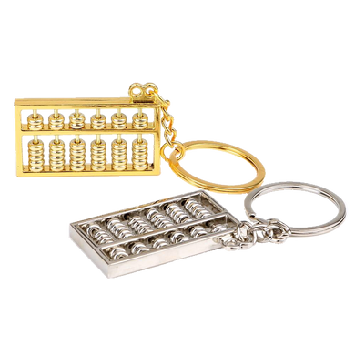 Stainless Steel Abacus Keyring - Gifted Guppy