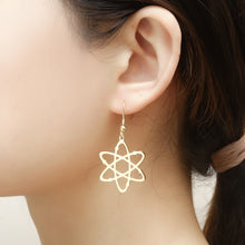 Load image into Gallery viewer, Stainless Steel Atom Drop Earrings | Physics Earrings