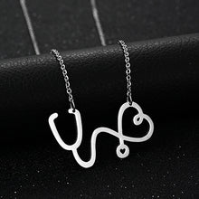 Load image into Gallery viewer, Stainless Steel Stethoscope Necklace - Gifted Guppy
