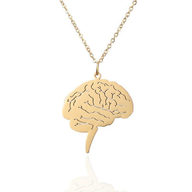 Stainless Steel Brain Necklace - Gifted Guppy