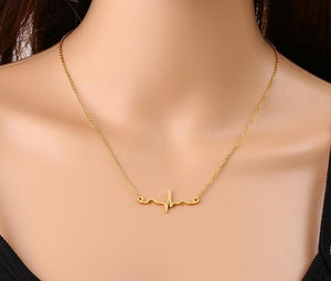 NEW! Stainless Steel True EKG Heartbeat Necklace - Gifted Guppy