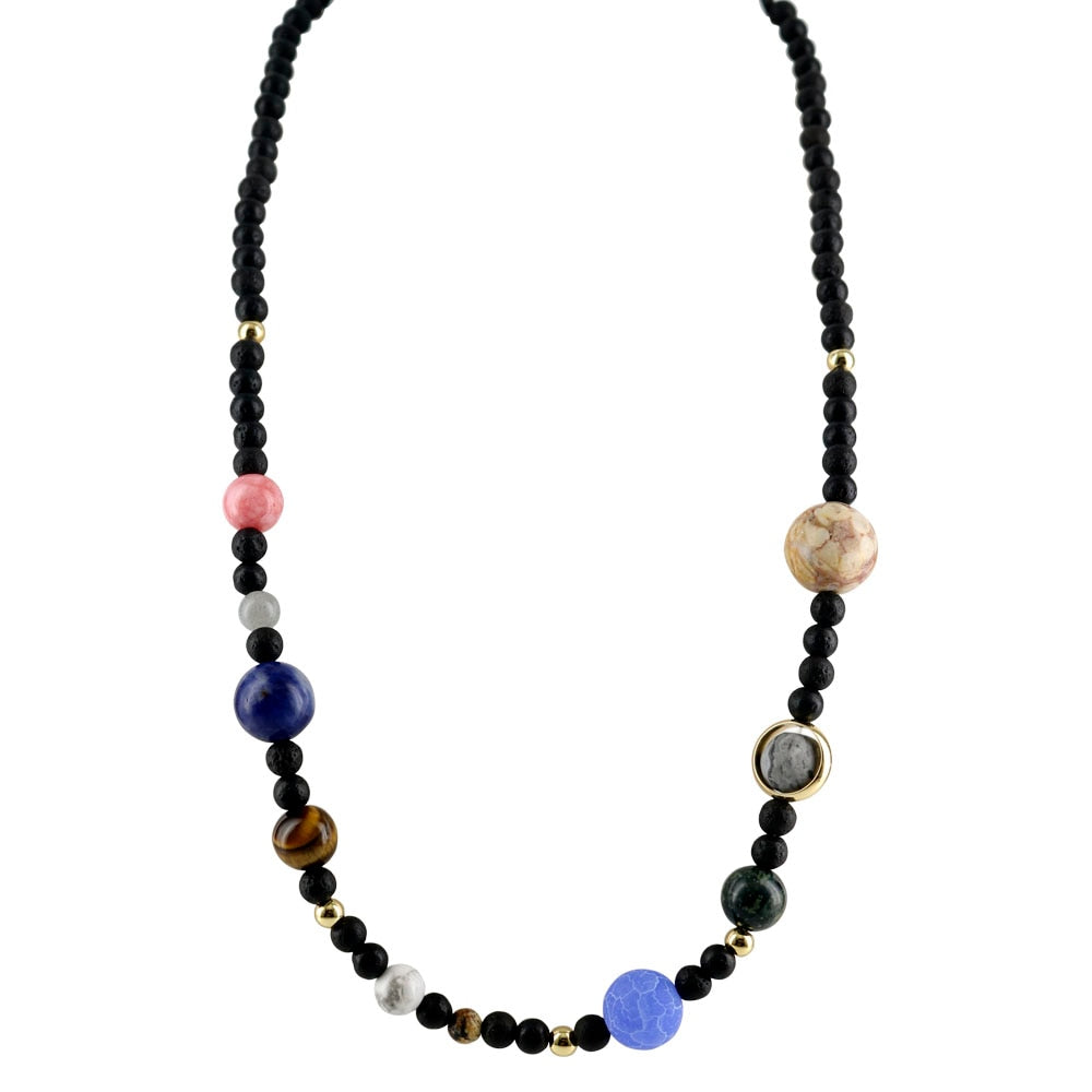 Natural Stone Solar System Necklace - Gifted Guppy