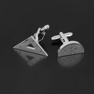 Math Triangle Ruler & Protractor Cufflinks - Gifted Guppy