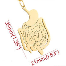 Load image into Gallery viewer, Stainless Steel Gastrointestinal (GI) Tract Pendant - Gifted Guppy