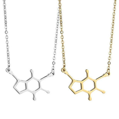 Stainless Steel Caffeine Molecule Necklace - Gifted Guppy