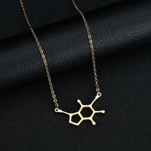 Load image into Gallery viewer, Stainless Steel Caffeine Molecule Necklace - Gifted Guppy