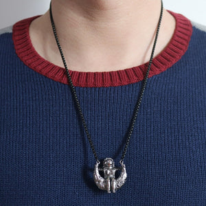 Astronaut On The Moon Necklace - Gifted Guppy