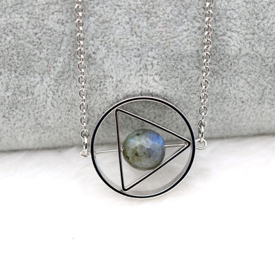 Blue and Silver Rotating Celestial Pendant Necklace - Gifted Guppy