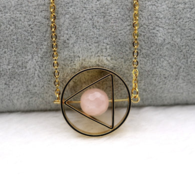 Pink and Gold Rotating Celestial Pendant - Gifted Guppy