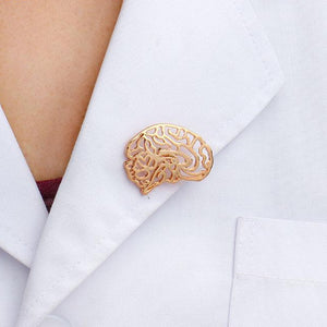 Anatomical Brain Lapel Pin - Gifted Guppy