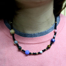 Load image into Gallery viewer, Natural Stone Solar System Necklace - Gifted Guppy