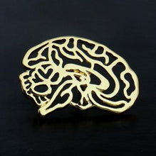 Load image into Gallery viewer, Anatomical Brain Lapel Pin - Gifted Guppy