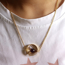 Load image into Gallery viewer, Pink and Gold Rotating Celestial Pendant - Gifted Guppy
