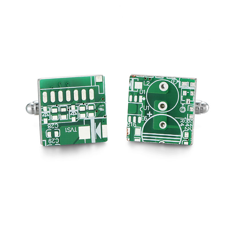 Computer Motherboard Cufflinks - Gifted Guppy