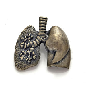 Anatomical Lungs Lapel Pin - Gifted Guppy