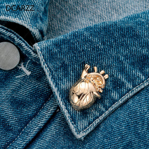 Anatomical Heart Lapel Pin - Gifted Guppy