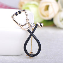 Load image into Gallery viewer, Rhinestone Stethoscope Pin - Gifted Guppy