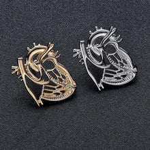 Load image into Gallery viewer, Anatomical Heart Brooch Pin - Gifted Guppy