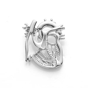 Anatomical Heart Brooch Pin - Gifted Guppy